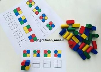 Ahşap Bloklarla Örüntü Çalışması