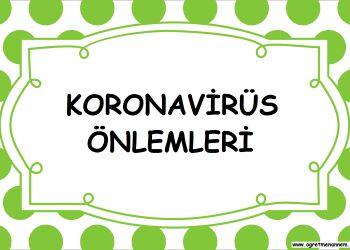 Anasınıfı Korona Virüs Önlemleri