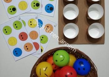 Renkli Toplarla Duygularım Oyunu